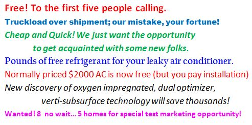 Do these Air Conditioning Service specials sound familiar?