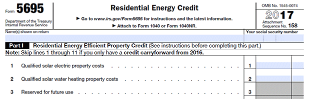 Geothermal tax credit form for past geo installations
