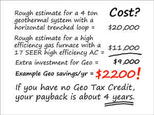 How much does geothermal cost?