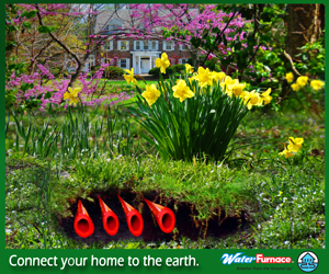 We install geothermal systems that capture the solar energy stored in your yard