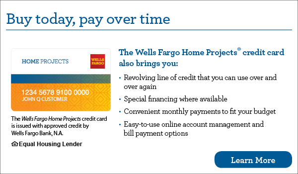 Wells Fargo financing from Precision Comfort in Westfield, IN